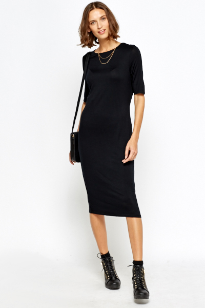 Black Long Straight Dress
