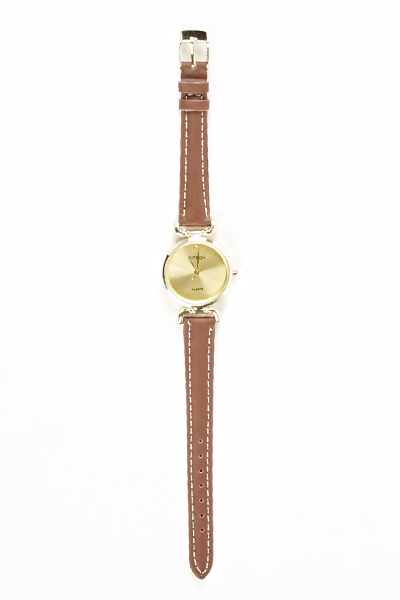 Brown Thin Strap Watch