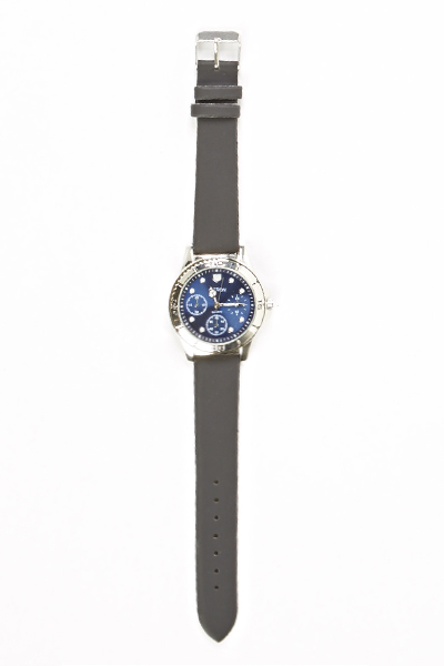 Chronograph Contrast Strap Watch