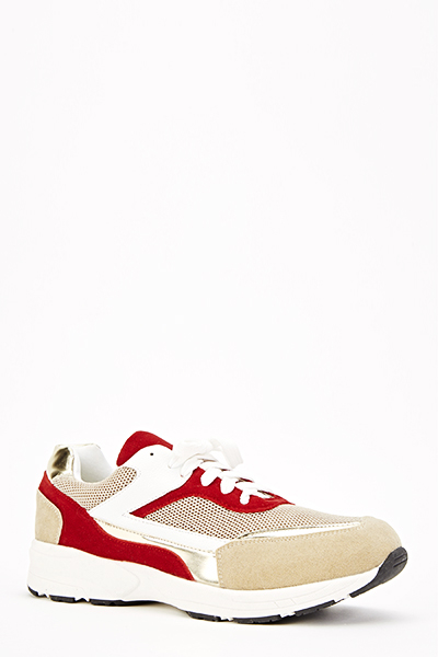Contrast Khaki Contrast Trainers