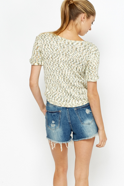 Contrast Knitted Top