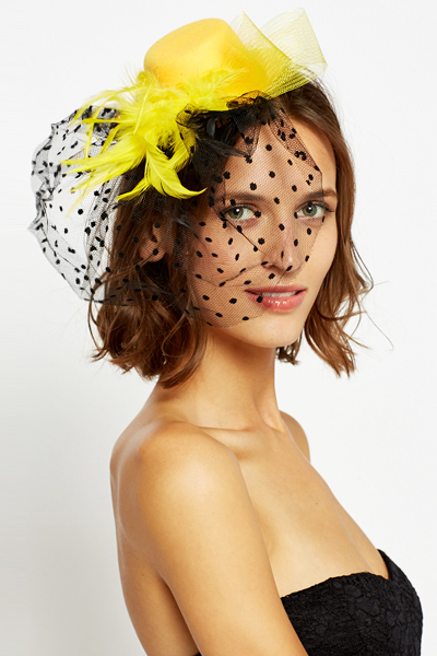 Polka Dot Mesh Fascinator