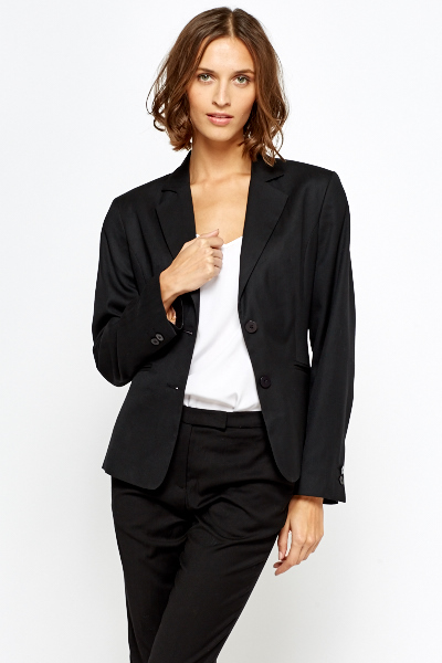Black Casual Blazer