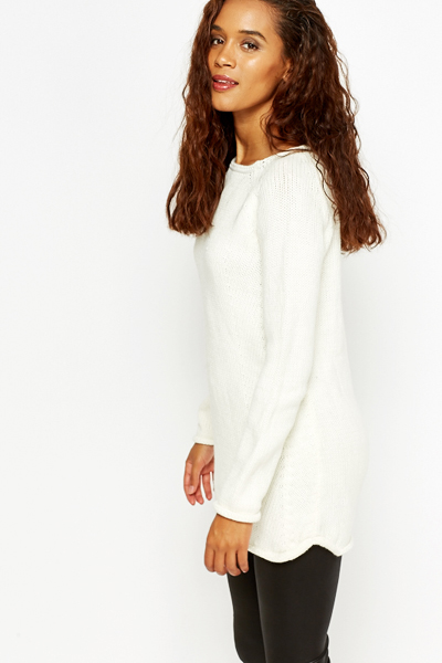 Longline Knit Jumper
