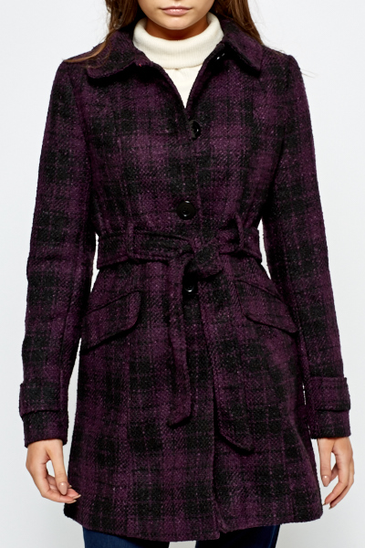 Purple Button Up Coat