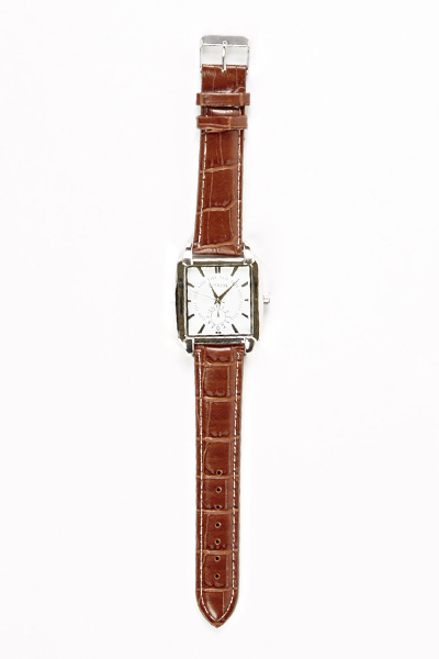 Brown Strap Square Face Watch