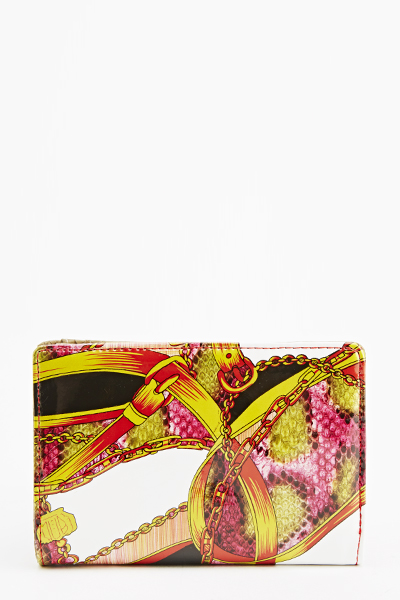 Mix Print Patent Purse