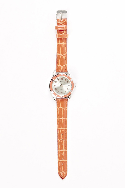 Orange Thin Strap Watch