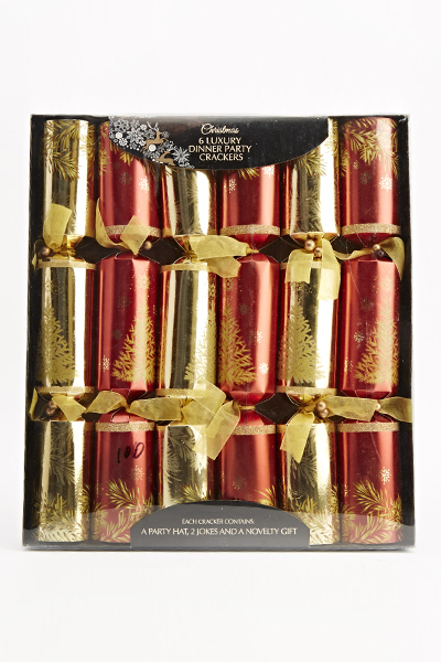Six Luxury Dinner Party Crackers