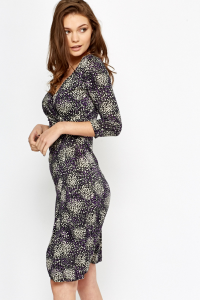 Splash Print Wrap Dress