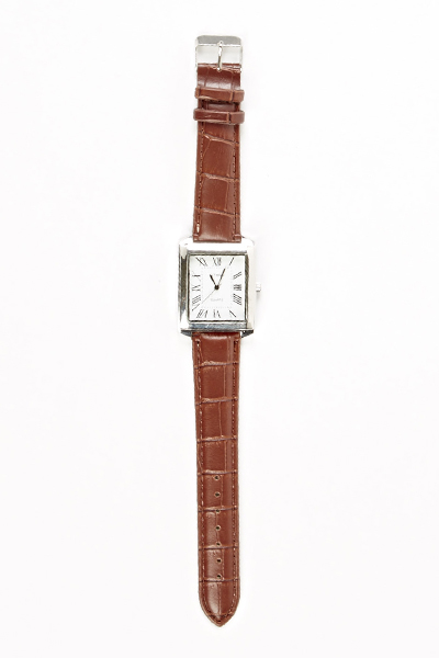 Square Face Brown Watch