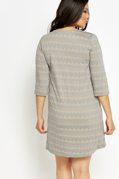 Grey Aztec Swing Tunic