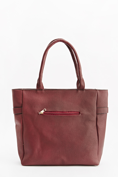 Gold Belt Detail Tote Bag