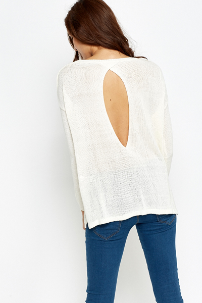 Cut Out Back Knitted Jumper