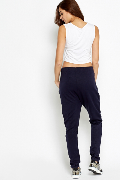 Low Crotch Fitted Joggers