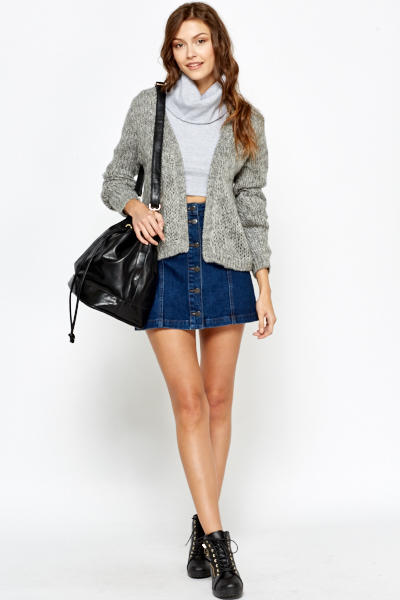 Soft Short Open Cardigan