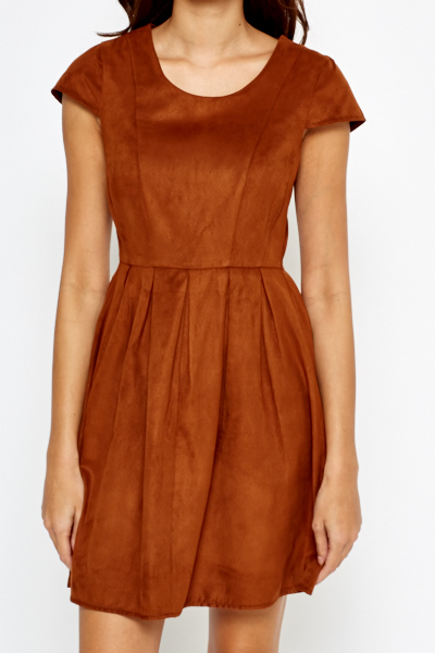 Suedette Skater Dress