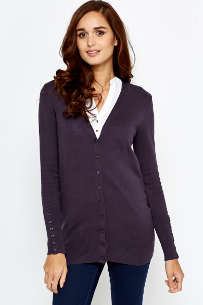 Casual Button Up Cardigan