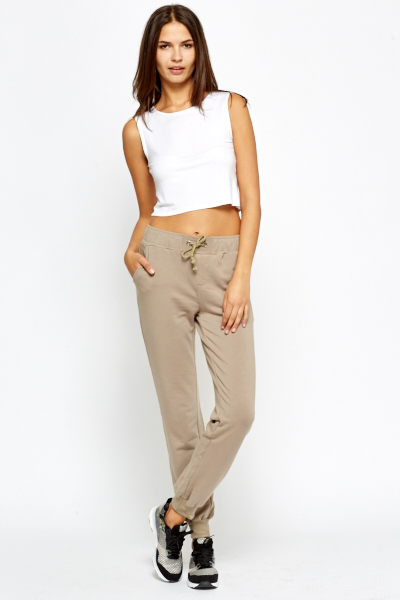Khaki Fleece Joggers