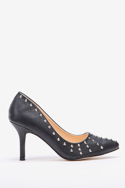 Studded Spike Court Heels