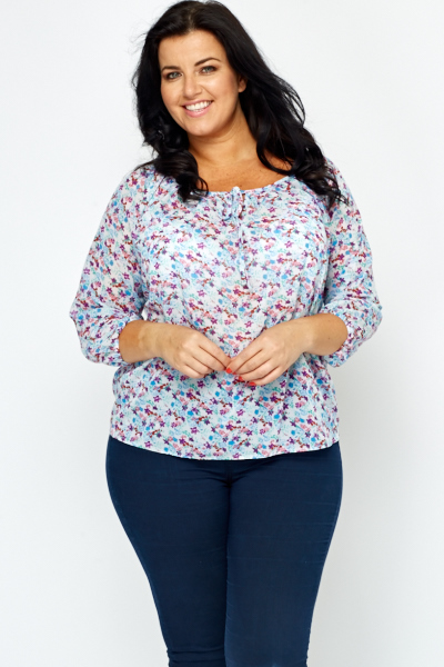 2fd5492988f Multi Floral Round Neck Top - Just £5