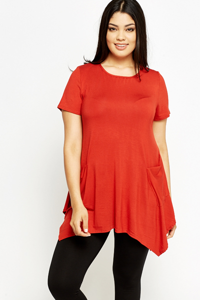 Round Neck Casual Tunic