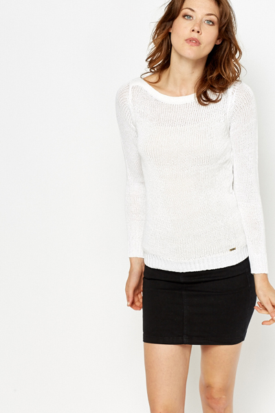 Loose Knit Metallic Blend Jumper
