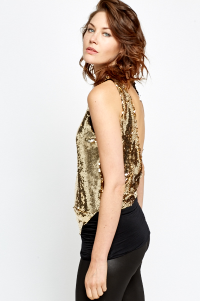 Low Back Sequin Top