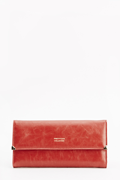 Faded Faux Leather Purse