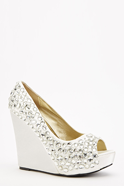 Gem Encrusted Wedge Heels