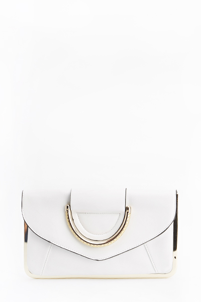 Gold Trim Clutch Bag