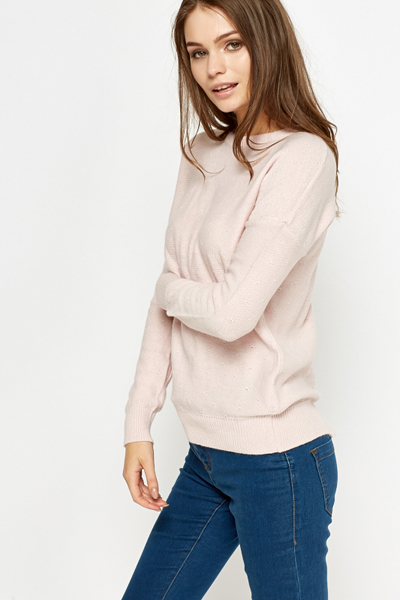 Button Back Casual Pullover
