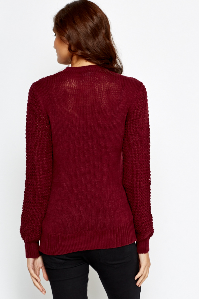 Mix Loose Knit Jumper