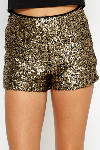 High Waisted Sequin Hot Pants