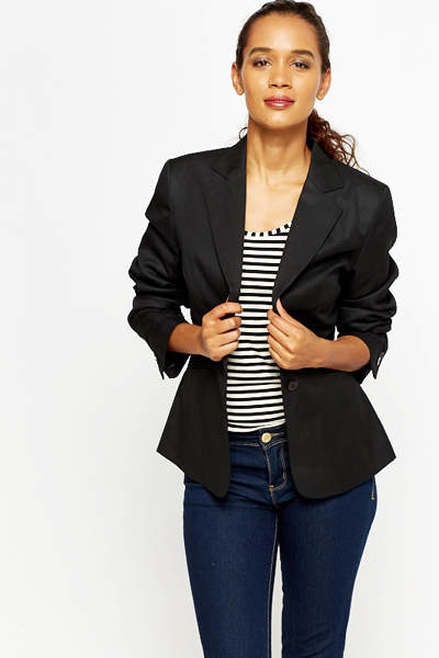 Ladies Black Blazer