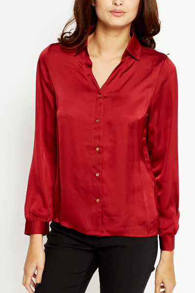 Maroon Silk Feel Blouse