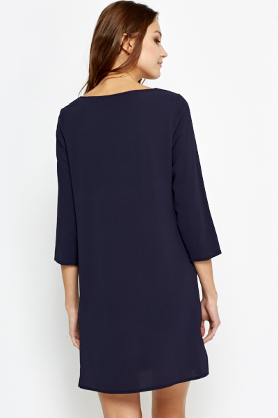 Simple V-Neck Shift Dress