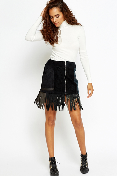 Tassel Leather Skirt | Jill Dress