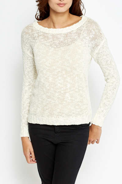 Bobble Loose Knit Jumper