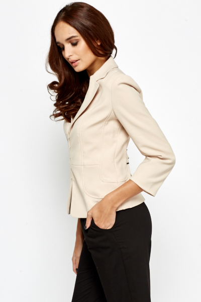 Rib Trim Formal Blazer