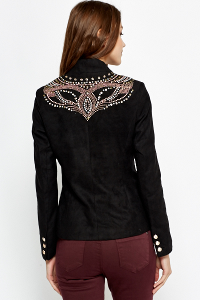 Studded Back Black Blazer