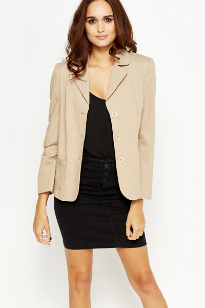 Textured Blazer Jacket