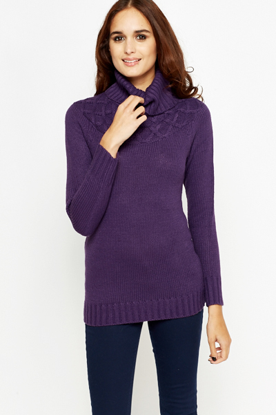 Zig Zag Knitted Neck Jumper
