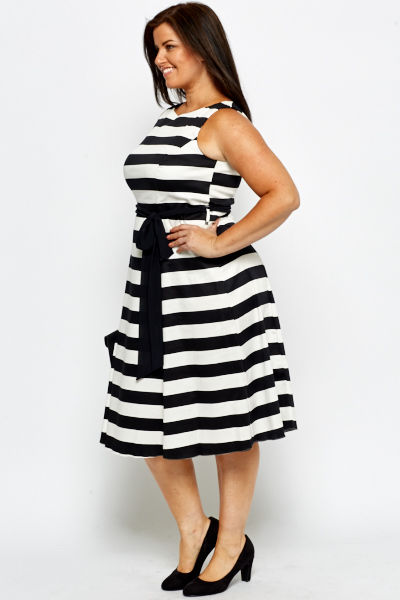 Striped Mono Dress