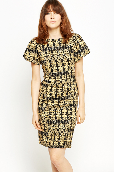 c1fbba1978cf4 Textured Aztec Puff Sleeve Dress - Just £5