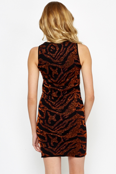 Textured Shimmer Bodycon Dress