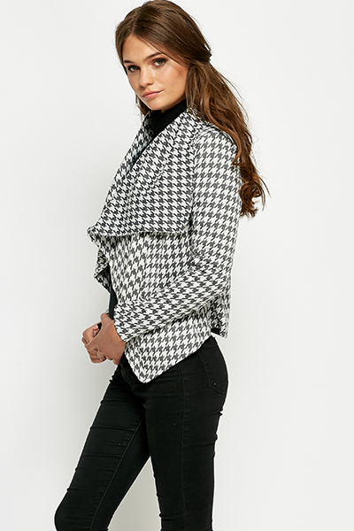 Houndstooth Waterfall Jacket