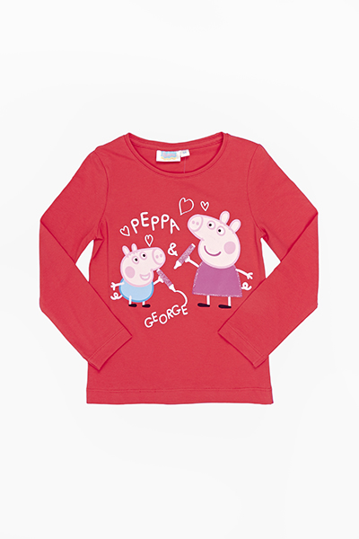 Red Peppa And George Pig Top