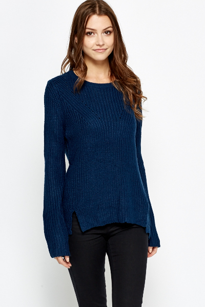Split Side Fine Knit Jumper