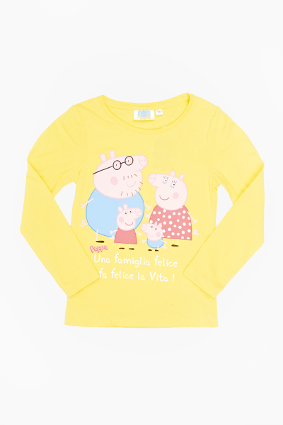 Yellow Peppa Pig Long Sleeve Top
